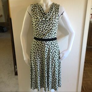 MAX MARA STUDIO Green/Black Floral Dress Sz XL/44